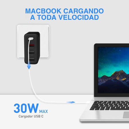 Cargador de carga rápida para celulares y laptops con descuento
