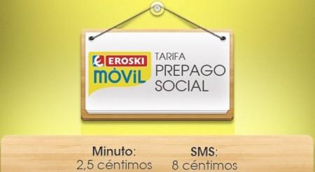 Eroski extiende la tarifa Soci@l a prepago rebajando su tarifa básica sin cuotas