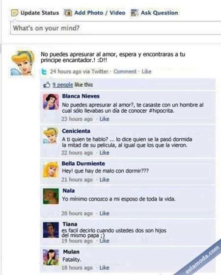 Estados Facebook Disney 4