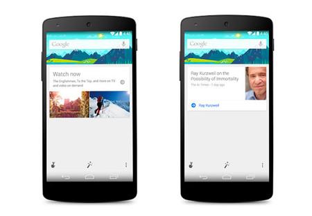 Google Now se actualiza: noticias, actualizaciones de sitios web y recomendaciones de TV