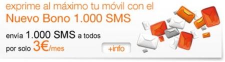 Nuevo Bono 1.000 SMS Orange por 3 euros