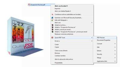 Manipula PDFs desde el menú contextual con Quick PDF Tools