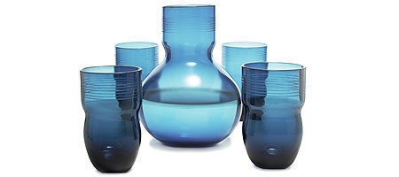 Decantador, juegos de vasos y soporte de botella