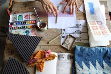 Sketchbook With Hands