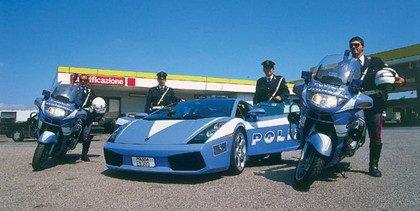 El Lamborghini Gallardo de la policía italiana en acción