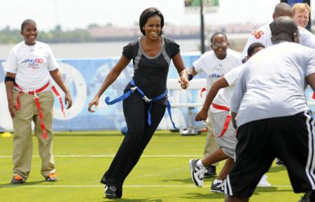 Michelle Obama Flag Football Pics 809