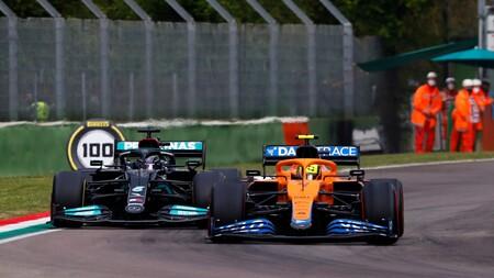 Norris Hamilton Imola F1 2021