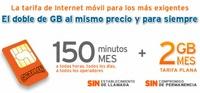Simyo mejora  su tarifa Gigaplan: 2 GB y 150 minutos de llamadas por 19,95 euros