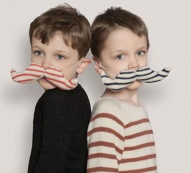 Una buena idea: mostachos tejidos para los peques