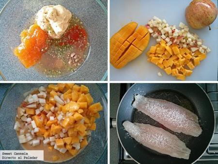 preparación pescado chutney