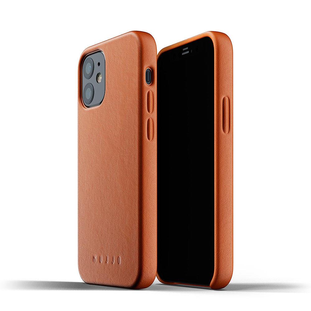 Mujjo Full Leather Funda Piel iPhone 12 mini Marrón