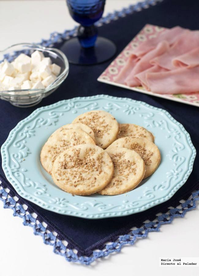Receta de galletas saladas de sésamo y parmesano, para un picoteo de lo más sabroso