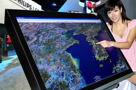 [CES 2008] Pantalla LG-Philips multitáctil de 52 pulgadas