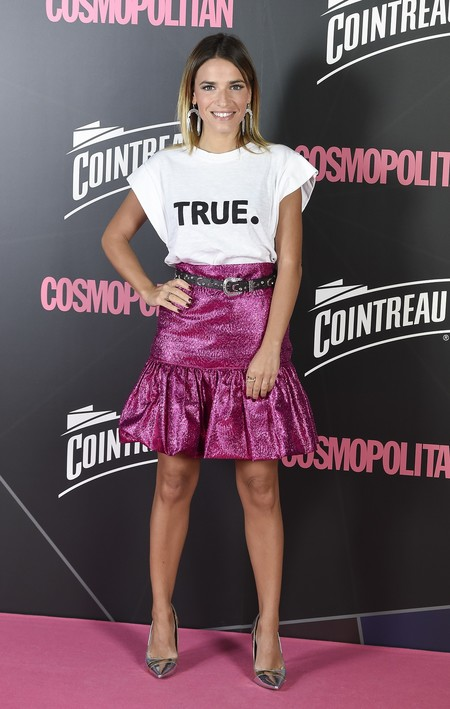 premios cosmopolitan 2017 alfombra roja look estilismo outfit Periodista Flora Gonzalez