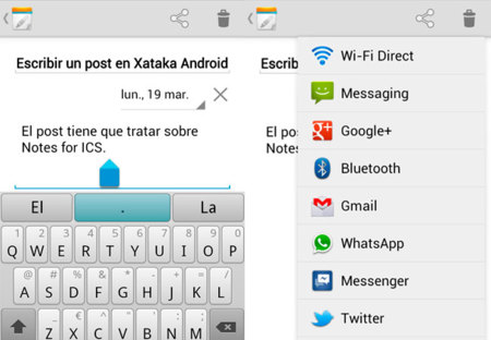 Notes for ICS, una aplicación para tomar notas y gestionar tareas en Ice Cream Sandwich