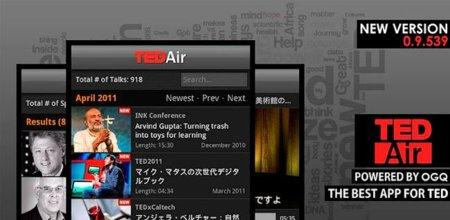 TED Air, descubre y descarga los vídeos más interesantes sobre divulgación de ideas