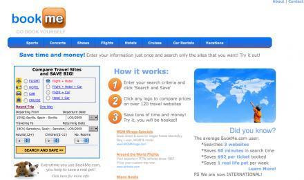 BookMe, compara precios de vuelos, hoteles y alquiler de coches