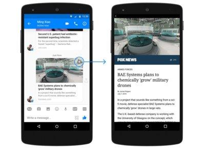 Los Instant Articles llegan también a Facebook Messenger