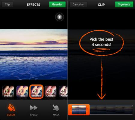 Cinemagram se actualiza y permite importar vídeos e introducir tags