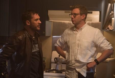 Tom Hardy y Ruben Fleischer en el rodaje de Venom