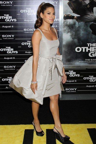 Eva Mendes, peinado premiere The Other Guys