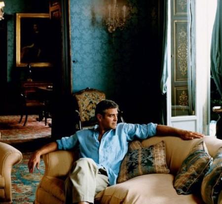 Celebrity Homes George Clooney Italian Villa Home Lake Como Living Room