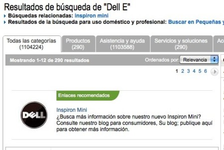 Búsqueda de Dell E en dell.es