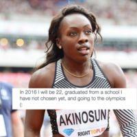 Morolake Akinosun, la atleta olímpica que hace 5 años predijo que lo lograría con este tuit increíble