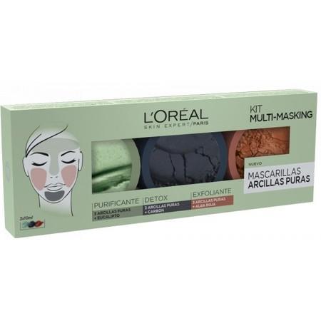 Kit con tres mascarillas faciales de L'Oréal por 5,95 euros en Perfume's Club