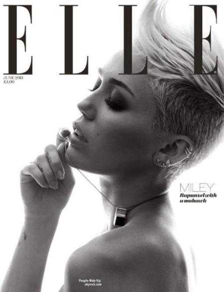 Elle Miley Cyrus portada