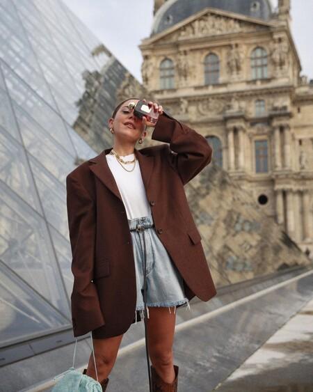 Shorts Blazer Street Style Ss 2021 04