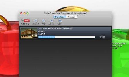 Convierte los videos de Youtube en tu Mac con la herramienta de Enolsoft Youtube Converter HD