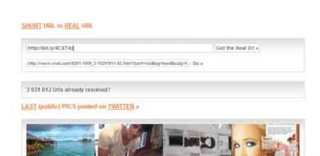 Real URL, averigua la web que está detrás de una URL abreviada