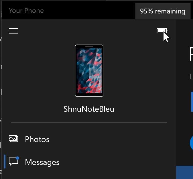 Sincronizar el nivel de la batería y el fondo de pantalla entre terminal y PC ya es probable en la aplicación Tu Teléfono