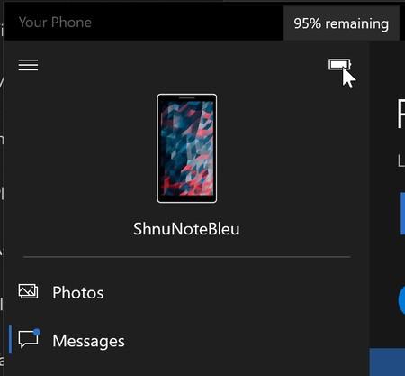Sincronizar el nivel de la batería y el fondo de pantalla entre móvil y PC ya es posible en la app Tu Teléfono