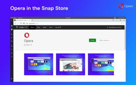 Opera ya está disponible como un paquete Snap para Linux