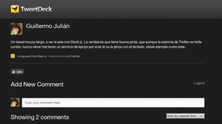 Deck.ly, el servicio de TweetDeck para tweets largos y el comienzo de una plataforma
