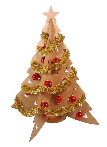 Una buena idea rbol de navidad de cart n for Adornos de navidad con carton