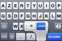 Atajo para escribir .es en el iPhone y en el Touch