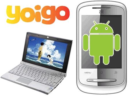 Yoigo lanzará un netbook con SIM integrada y un móvil con Android