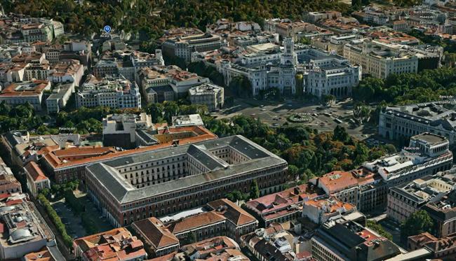 Vista 3D del centro de Madrid