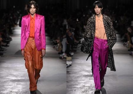 Hombre Rosa Pink Trendnecias Hombre Tendencia Paris Fashion Week Spring Summer 2020 04