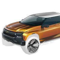 Este boceto nos revela el aspecto que podría tener la nueva Chevrolet Cheyenne eléctrica