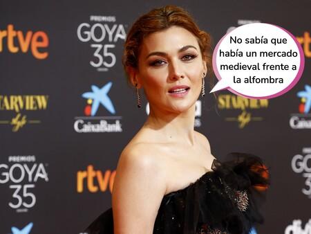 Indignación por los comentarios machistas de dos machirulos durante la alfombra roja de los Goya 2021: Esta ha sido la contundente respuesta de Marta Nieto