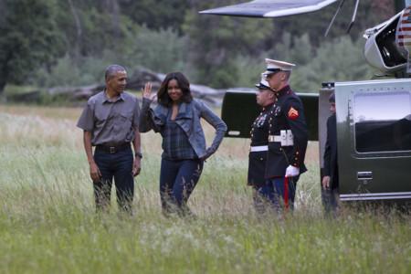 Michelle Obama Con Look De Campo A