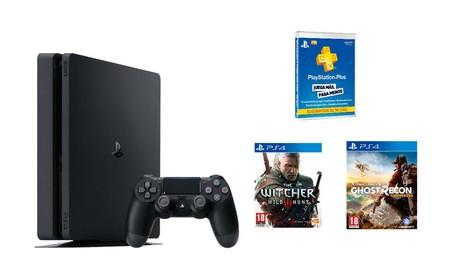 Sólo esta mañana, ofertón para la PS4 Slim de 1 Tb con 2 juegos y 3 meses de PSN en Mediamarkt