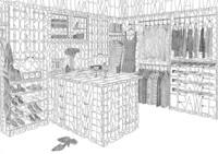 Habitaciones ilustradas con palabras