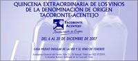 Degusta los vinos de Tacoronte-Acentejo, en la Quinzena Extraordinaria