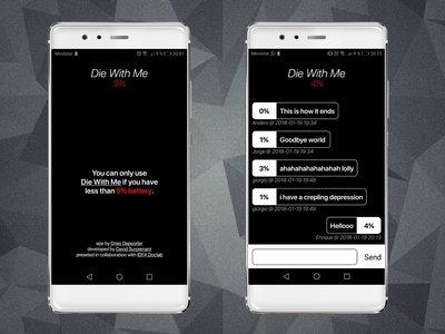 Probamos Die with Me: la aplicación de mensajería que solo puede utilizarse con menos del 5% de batería
