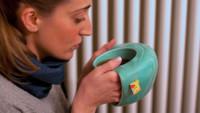 La taza que mantiene tus manos calientes